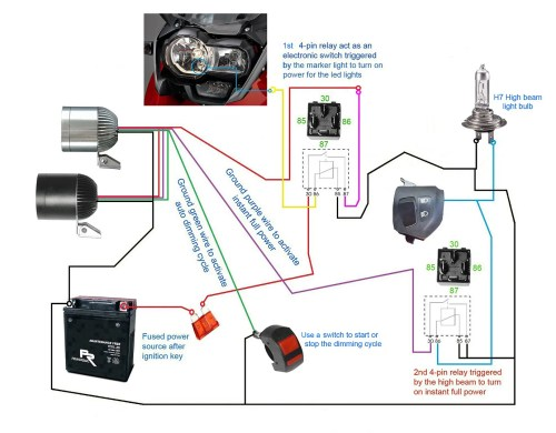 small resolution of 3500lm cree led light x2 switch 2allbuyer below diagrams show how to set up the led