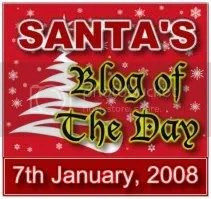 Santa's Blog of The Day Award