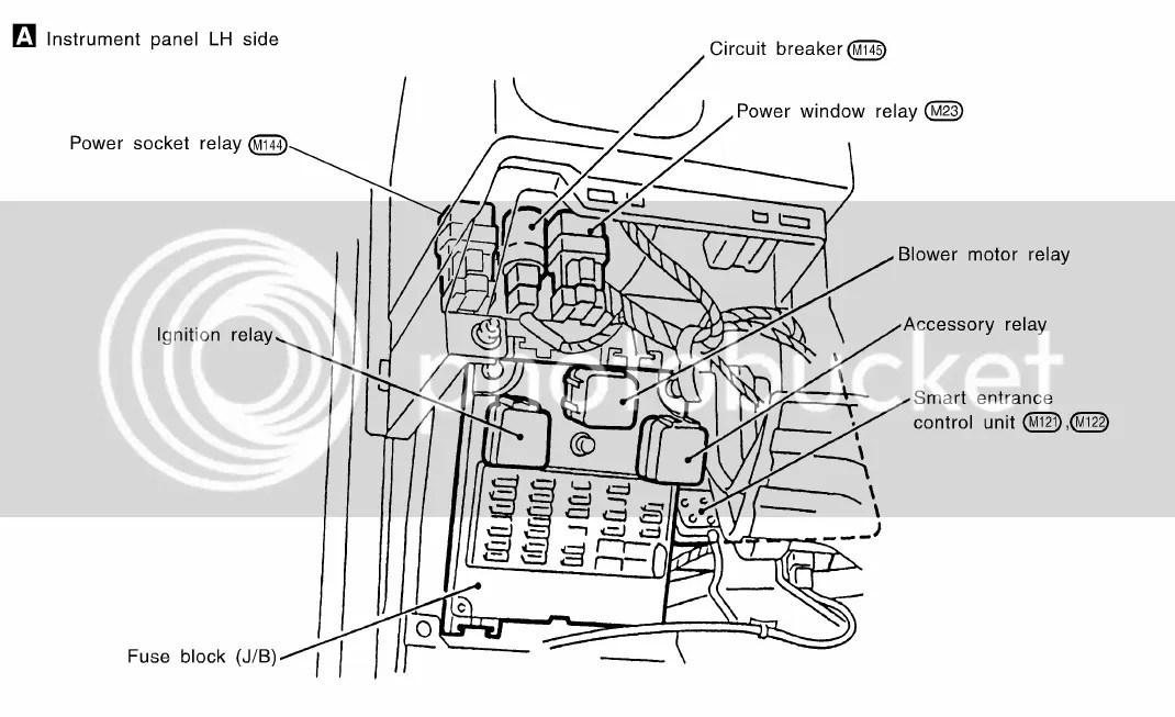 2002 Nissan maxima blower motor relay location