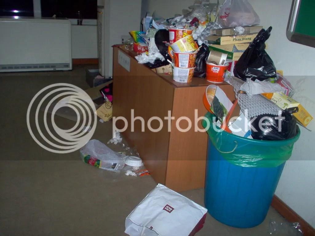 lobby trash