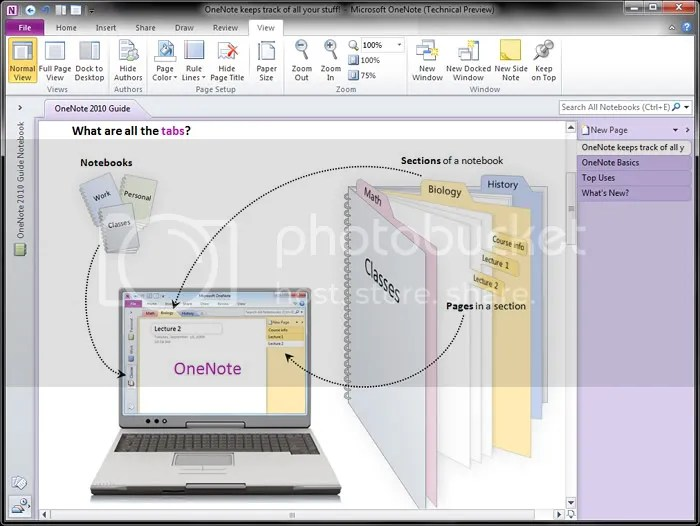 A first look at Microsoft OneNote 2010