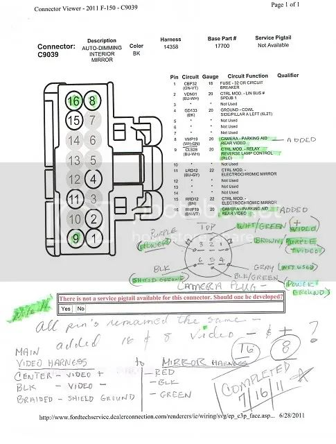 2013 ford f 150 power mirror wiring diagram