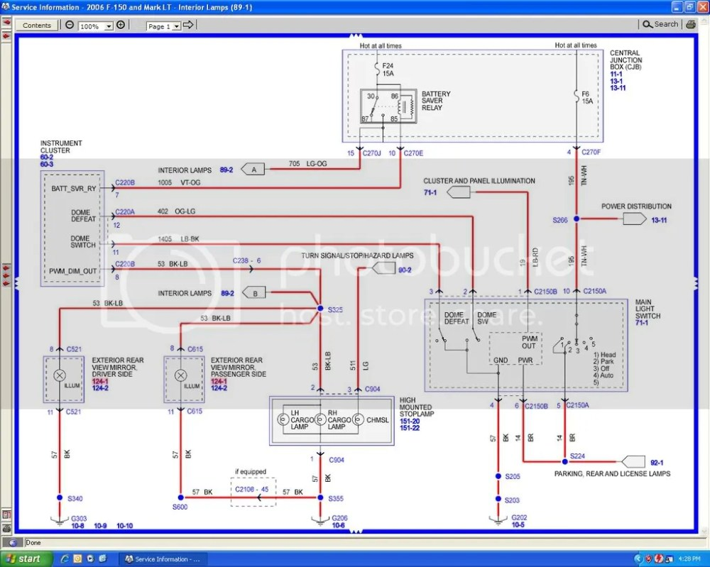 medium resolution of 2000 f250 dome light wiring diagram wiring library 2000 f250 dome light wiring diagram data wiring