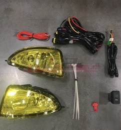 details about for honda civic 04 05 factory replacement fit fog lights wiring kit yellow lens [ 1080 x 1080 Pixel ]