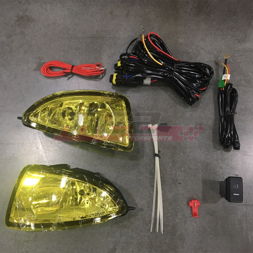 medium resolution of details about for honda civic 04 05 factory replacement fit fog lights wiring kit yellow lens