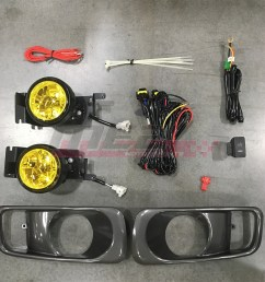 details about for honda civic 99 00 factory replacement fit fog lights wiring kit yellow lens [ 1080 x 1080 Pixel ]