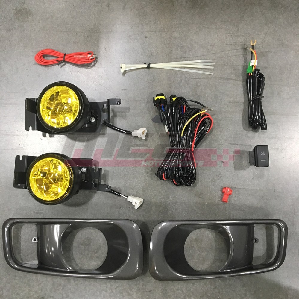 medium resolution of details about for honda civic 99 00 factory replacement fit fog lights wiring kit yellow lens