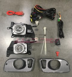 details about for honda civic 92 95 factory replacement fit fog lights wiring kit clear lens [ 1080 x 1080 Pixel ]