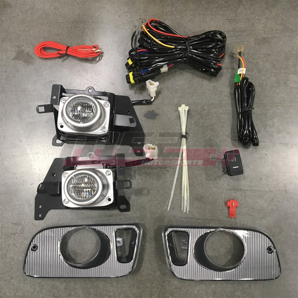 medium resolution of details about for honda civic 92 95 factory replacement fit fog lights wiring kit clear lens