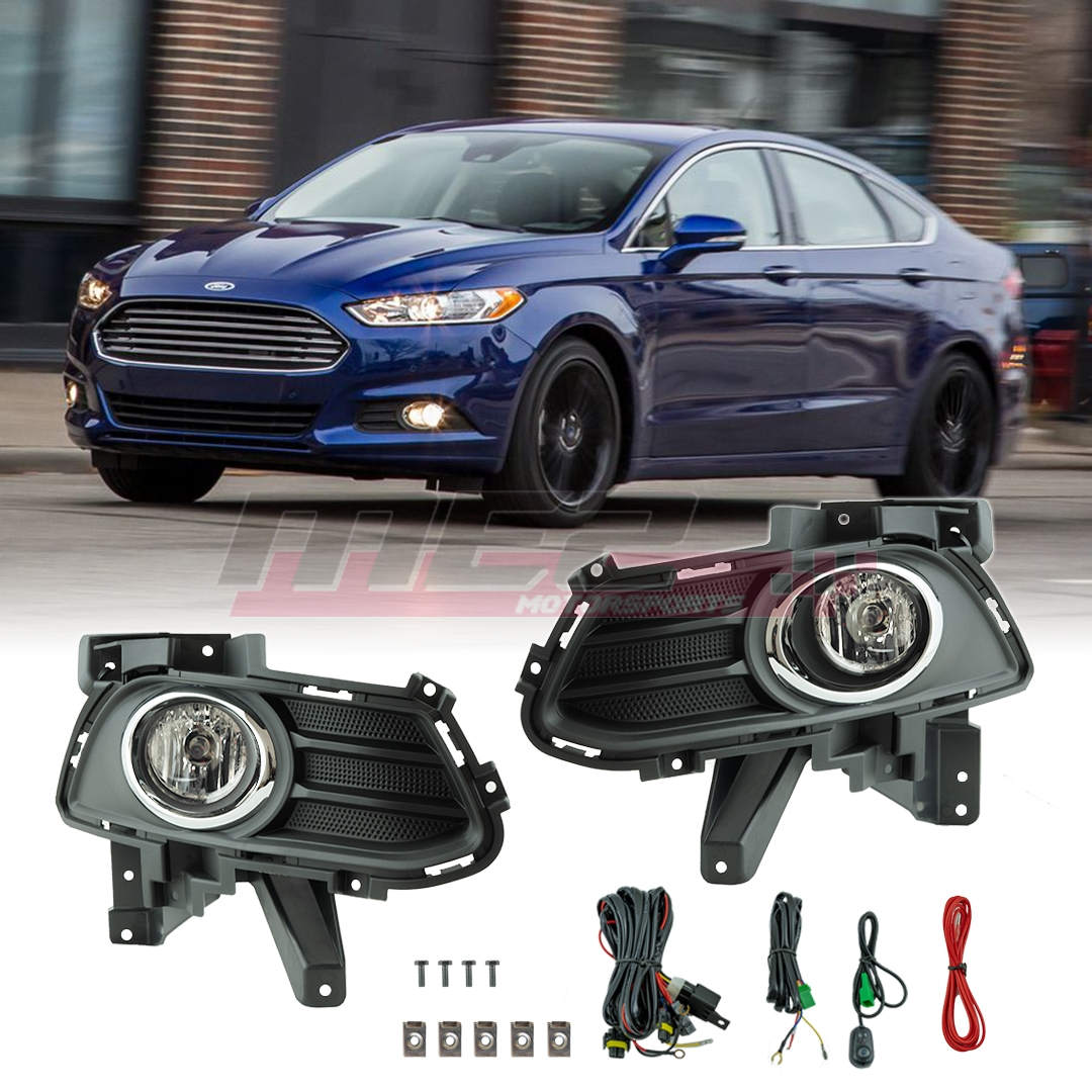 hight resolution of details about for 13 16 ford fusion factory bumper fit fog lights wiring kit clear lens