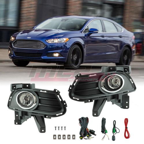 small resolution of details about for 13 16 ford fusion factory bumper fit fog lights wiring kit clear lens