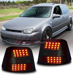 details about winjet fit for 1999 2006 vw volkswagen golf gti mk4 led brake tail lights smoke [ 1080 x 1080 Pixel ]