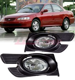 details about for 1998 2002 honda accord winjet oe factory fit fog light bumper kit clear lens [ 1080 x 1080 Pixel ]