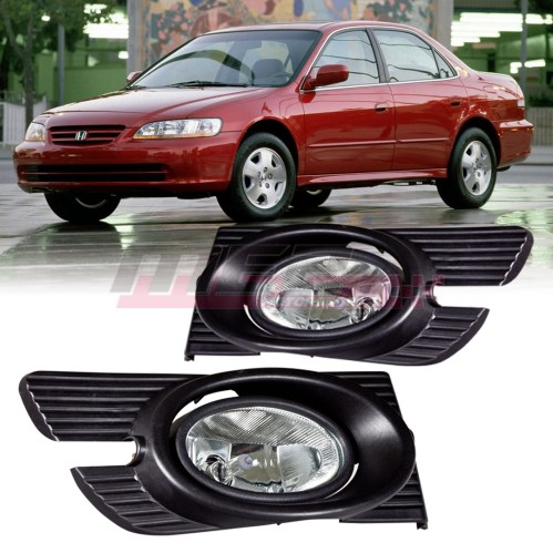 small resolution of details about for 1998 2002 honda accord winjet oe factory fit fog light bumper kit clear lens