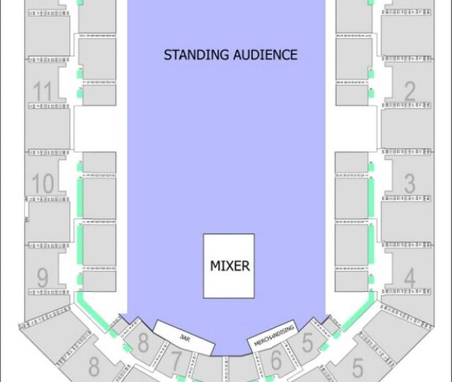 The Arena Birmingham Seating Plan For The Arctic Monkeys Shows In September 2018
