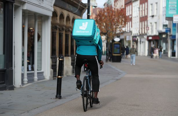 While restaurants may be closed for sit-in diners a Deliveroo rider is doing their best to feed Worcester