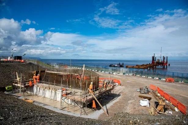 Des travaux sont en cours à Hinkley Point C