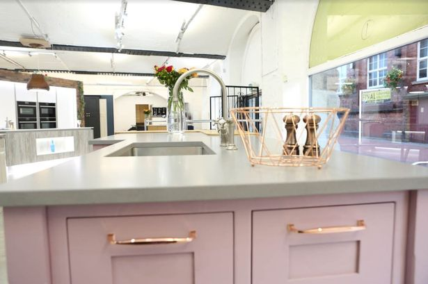 kitchen showroom small remodel ideas on a budget bristol s newest has everything from working appliances to rose gold fittings