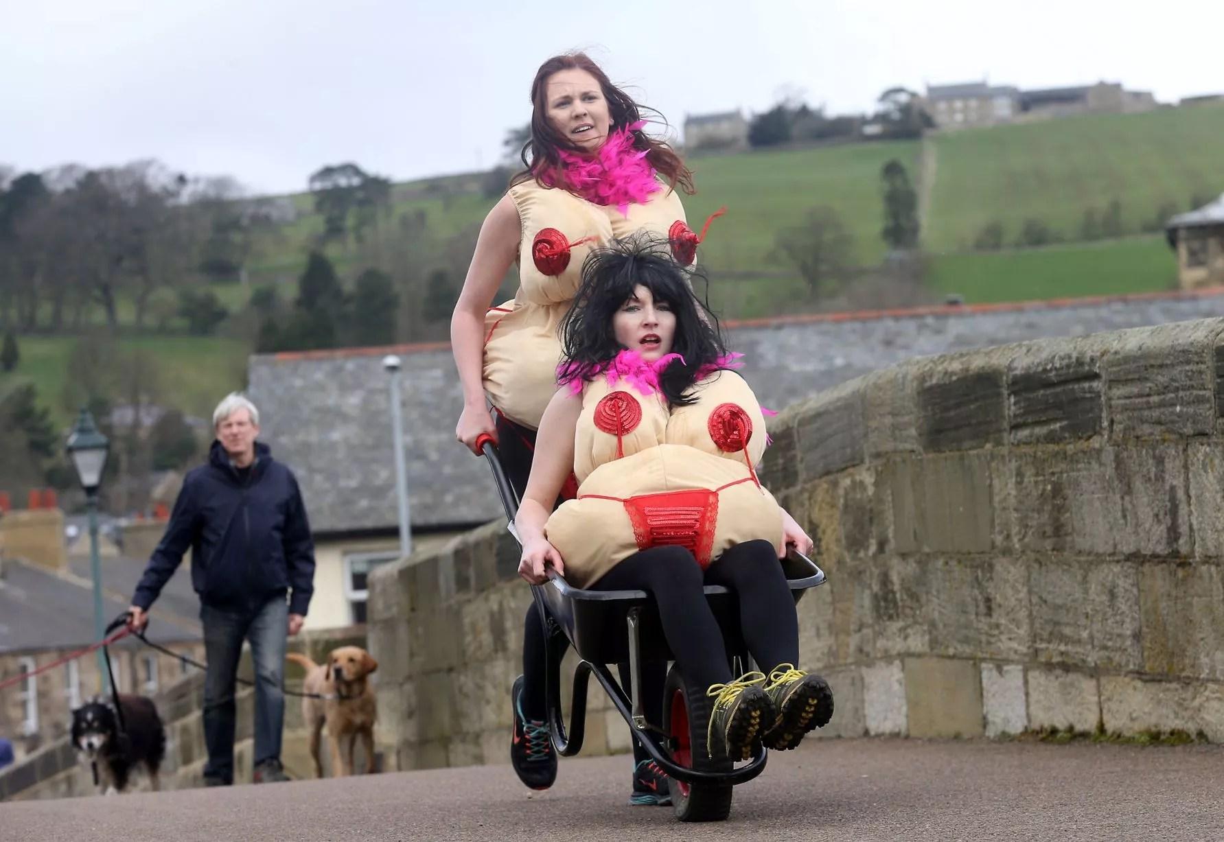 easter monday wheelbarrow race