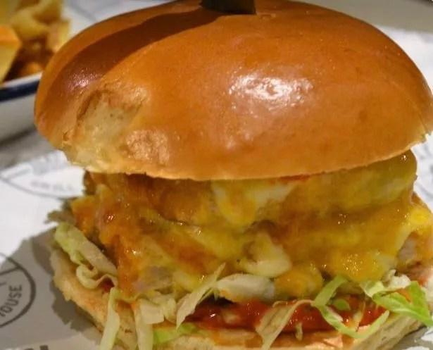 Filled Man Cheese Burger Vs Food