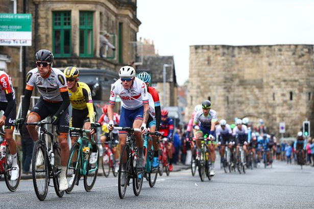 Picture by Alex Whitehead/SWpix.com - 09/09/2019 - Cycling - OVO Energy Tour of Britain - Stage 3: Berwick-upon-Tweed to Newcastle-upon-Tyne, England - Jake Stewart of Great Britain Cycling Team rides through Alnwick.