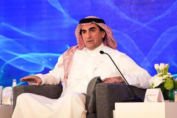 Yasir al-Rumayyan, President of Saudi Aramco, speaks during a press conference in eastern Saudi Arabia in Dhahran on November 3, 2019