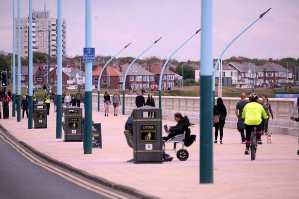 People in Whitley Bay on Saturday May 16 - the first weekend since the lockout restrictions were relaxed