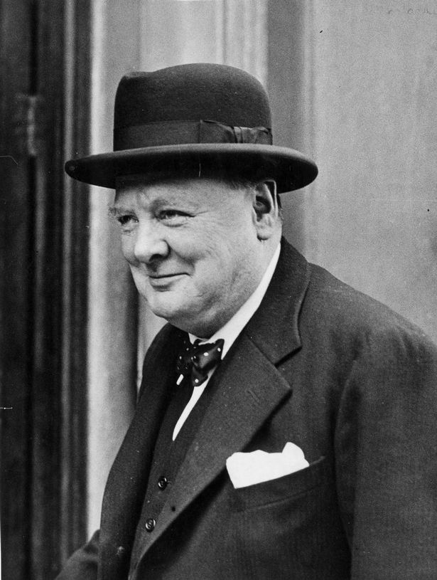 """British Prime Minister Winston Churchill in 1940. He declared: """"The Battle for France is over ... the Battle of Britain is about to begin"""