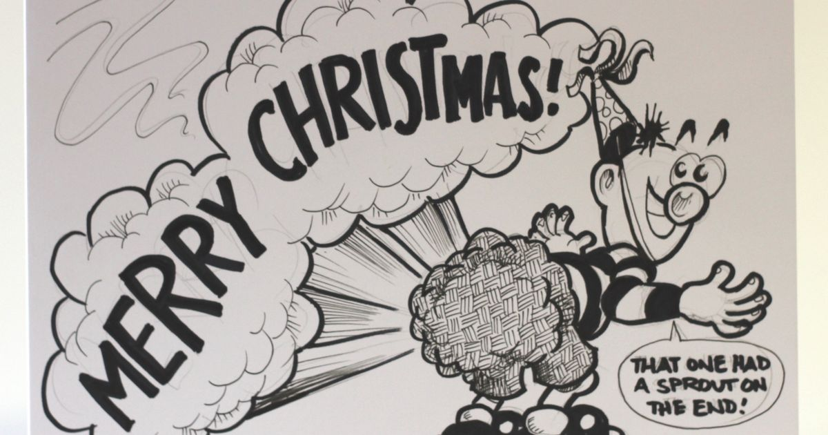 Johnny Fartpants Lets Rip In A Hand Drawn Christmas Card