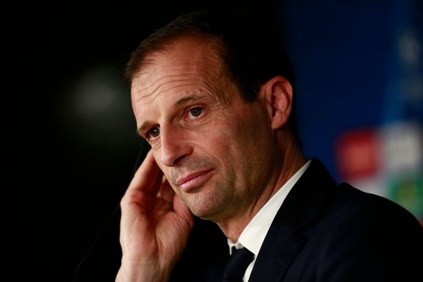 Massimiliano Allegri, Juventus coach speaks to the media during the Juventus press conference at the Estadio Santiago Bernabeu on April 10, 2018 in Madrid, Spain.