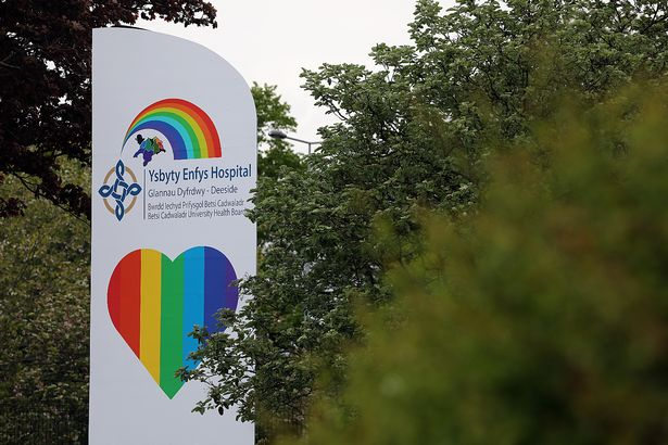 The former Deeside recreation center is nearing its transformation into a field hospital to help patients during the coronavirus pandemic. The facility was renamed and renamed Deeside Rainbow Hospital