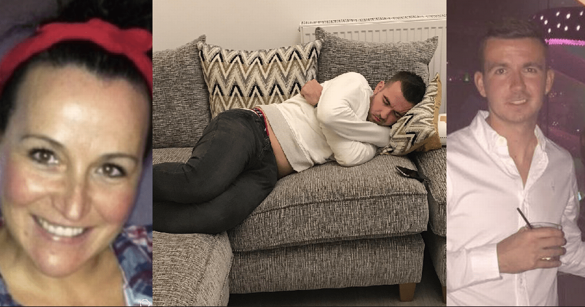 free sofa uplift glasgow bed slipcover target shocked mum finds drunk sleeping on her after he went home to his parent s old house