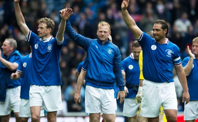 Rangers Legends 4 Man United Legends 1 Daily Record