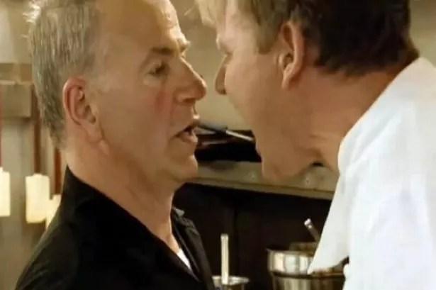 Gordon Ramsey has a kitchen nightmare as restaurant owner