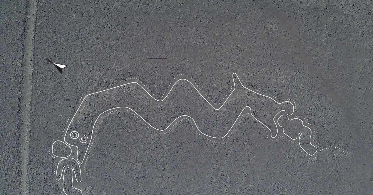New Nazca lines showing mystery 'humanoids' and two-headed snakes found in  Peru - Daily Star