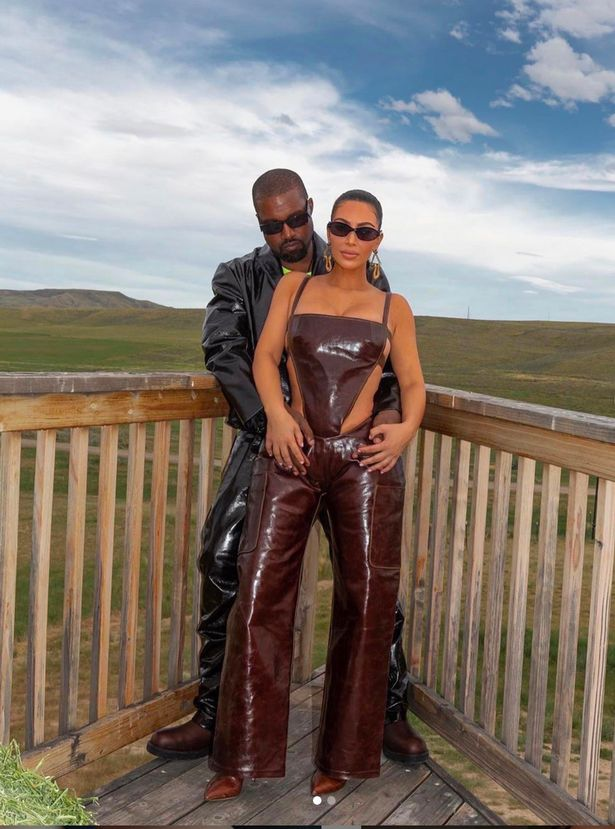 Kim Kardashian reunited with Kanye West in a tearful exchange in Wyoming