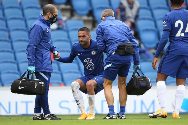 The forward picked up an ankle injury in pre-season against Brighton, who the Blues will play in the Premier League opener