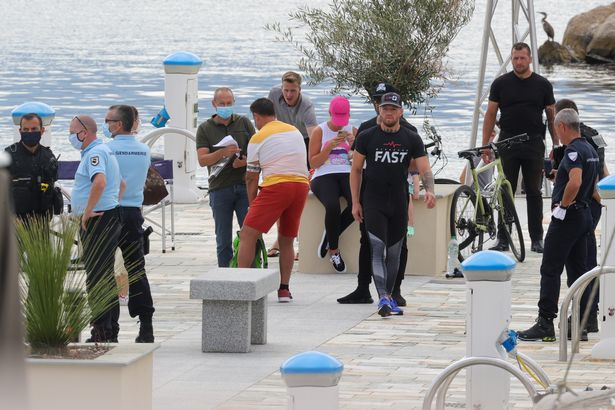Conor McGregor estaba con su pareja y otros miembros de la familia a bordo del yate.