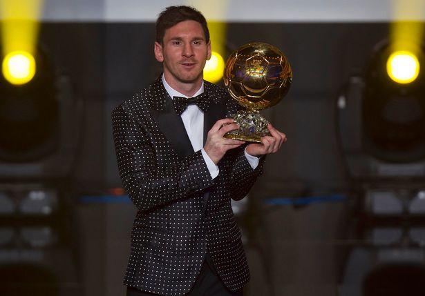 Lionel Messi might have won the Ballon d'Or, but his suit certainly didn't win any awards