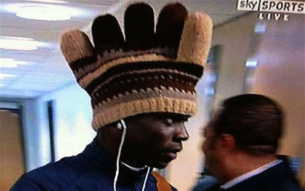 Former Manchester City striker Mario Balotelli turned heads with his chicken hat