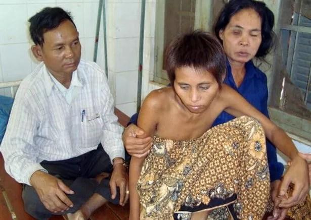 Cambodia, jungle woman