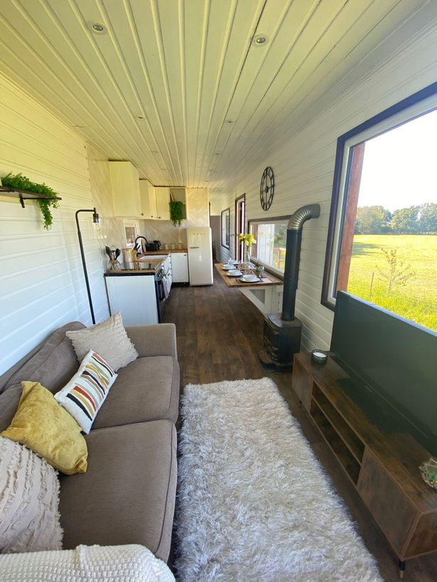The lorry that was turned into a home by Marcus Williams and partner Helen Ambler