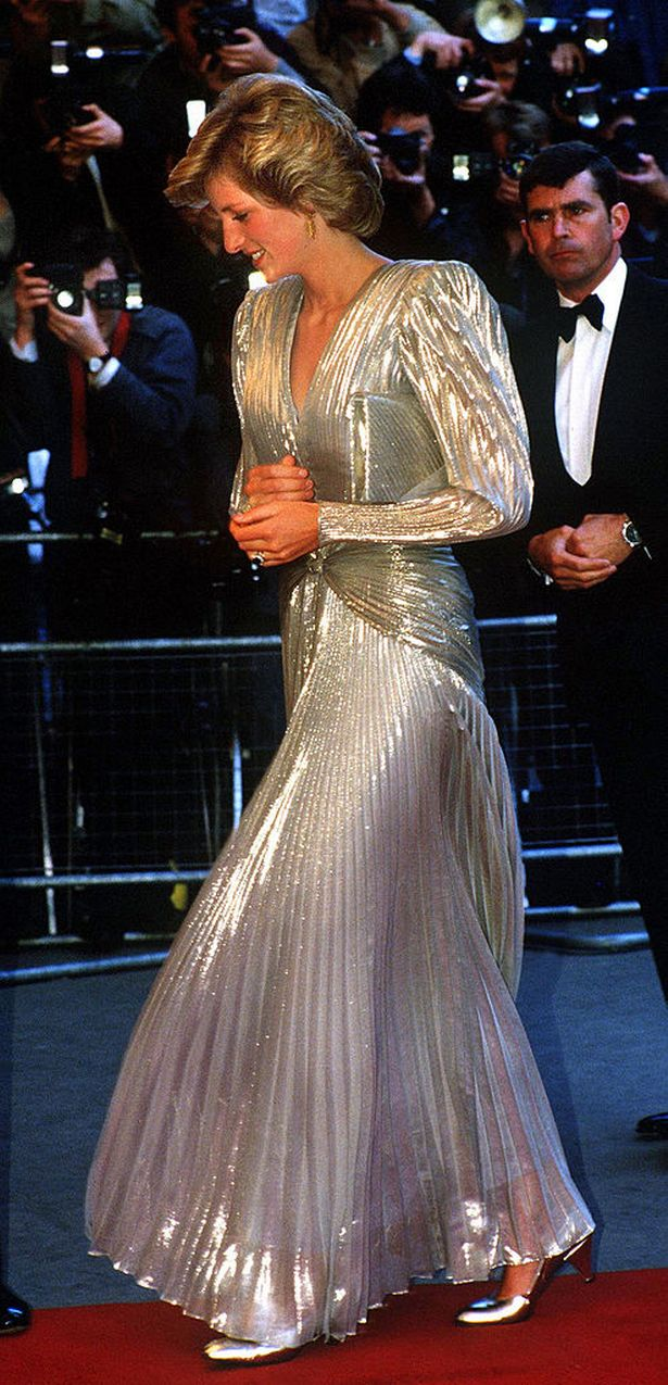 Princess Diana (1961 - 1997) arrives for the London premiere of the James Bond film 'A View To A Kill' at the Empire, Leicester Square, July 1985.