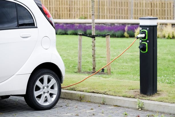 Electric car charging cable machine