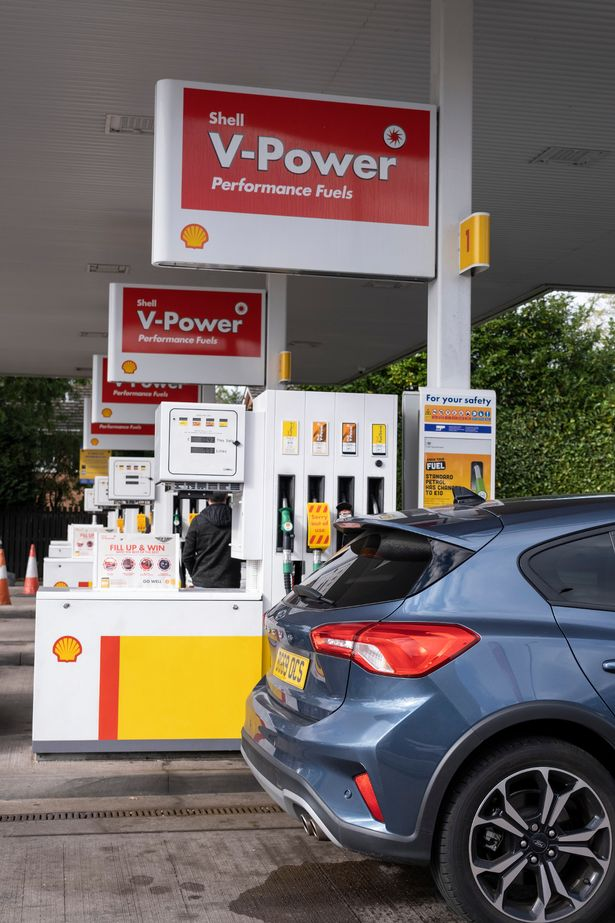 Shell petrol station is open for business