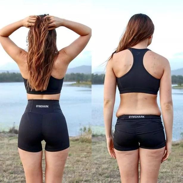 Influencer Bree Lenehan shares body comparison photos