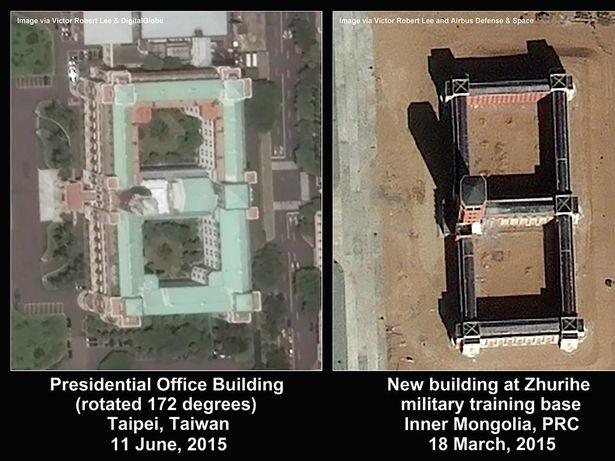 The mock presidential building had many similarities to that in Taipei