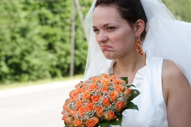 The bride was fuming with her friends