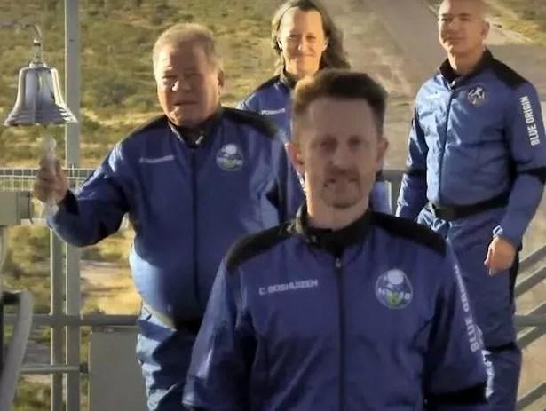 William Shatner boards the Blue Origin New Shepard rocket
