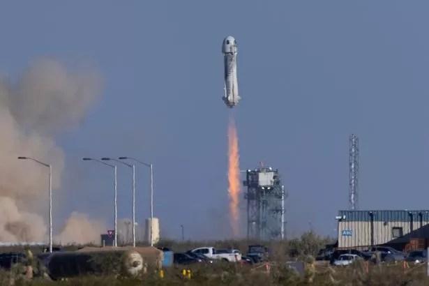 Blue Origin's New Shepard rocket took the sci-fi legend on billionaire Jeff Bezos company's second suborbital tourism flight